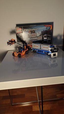 Zestaw lego plac przeładunkowy technik nr 42062