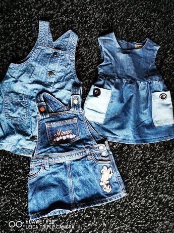 Sukienki dziewczece jeans 68 74