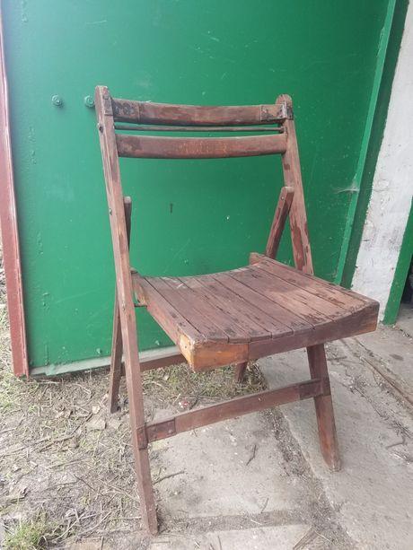 Винтажный раскладной стул, дерево.