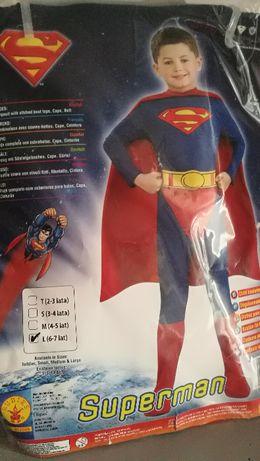 Nowy kostium Supermena, dziecięca L, wg producenta 6-7 lat