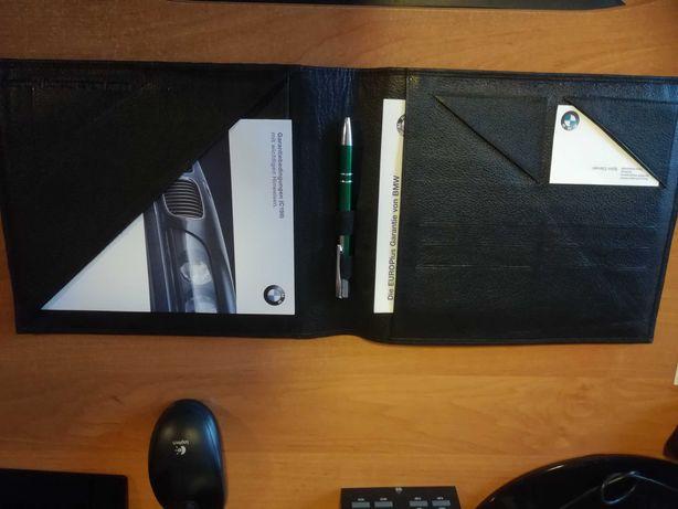 BMW Skórzane etui teczka+książka serwisowa