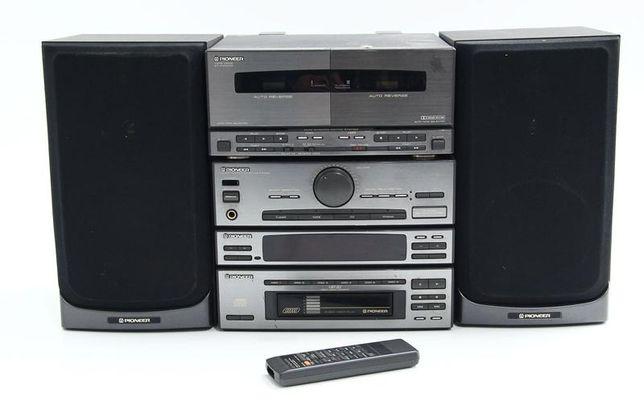 Aparelhagem de musica Pioneer com duplo leitor de cassetes
