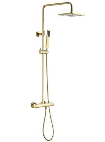 DAKAR zestaw prysznicowy z baterią termostatyczną, złoto firmy Sapho