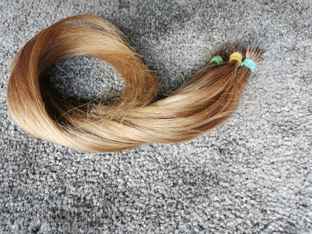 Włosy dziewicze naturalne sciete z głowy kolor błąd 45cm