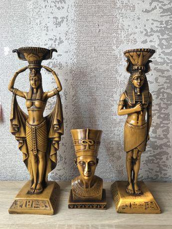 Египетские статуэтки,подсвечники!
