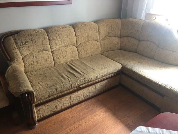 Narożnik sofa kanapa bezowa