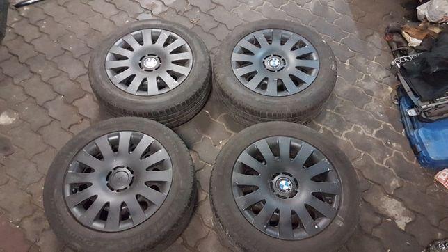 """Felgi stalowe 16"""" BMW z oponami Michelin + kołpaki. Gotowe do jazdy."""