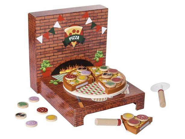 Pizza pizzernia drewniana zabawka