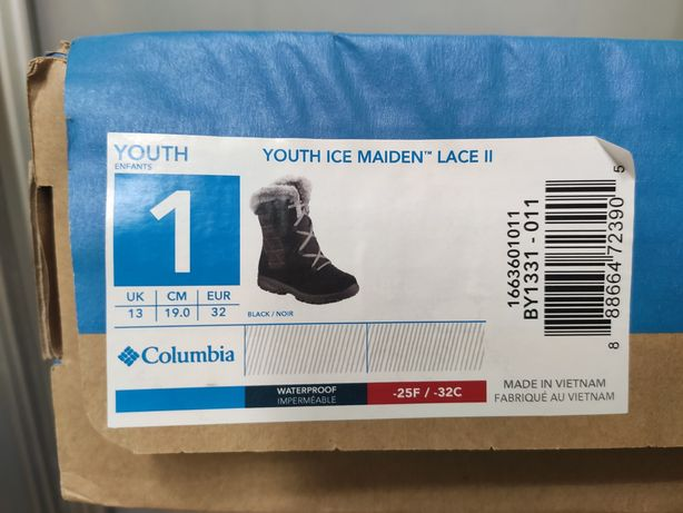 Дитячі Чоботи Columbia Youth Ice Maiden Lace II