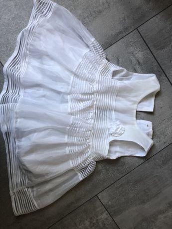 Sukienka H&M dziewczynka chrzest wesele rozm 80