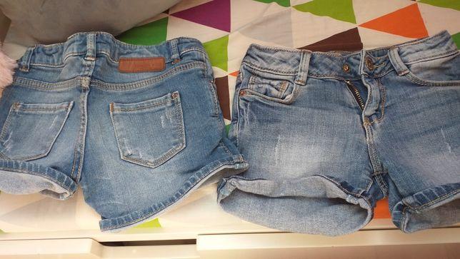 Zara spodenki jeans, bliźniaczki
