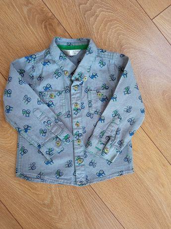 Koszula dla chłopca w traktory