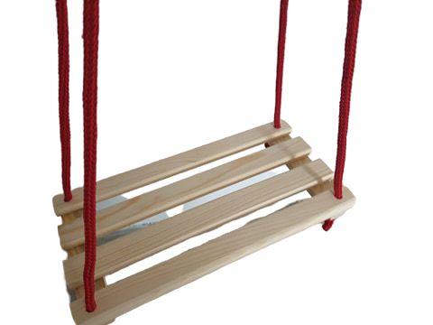 Huśtawka Drewniana Ogrodowa dla Dzieci Deska PL Zabawki ogrodowe