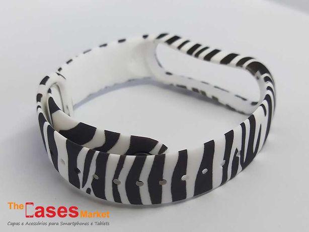 Bracelete silicone zebra Xiaomi Mi Band 5 / Mi Band 6