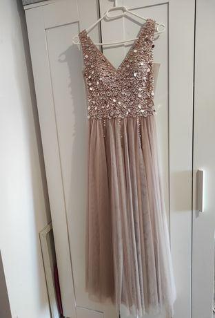 Sukienka ślubna balowa S na niską osobę