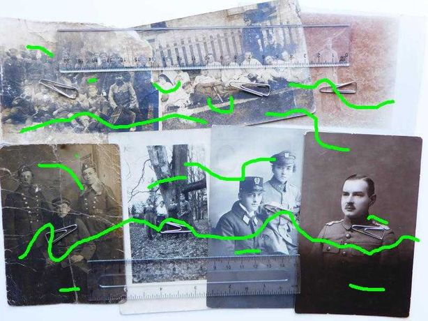 Legiony Polskie stare zdjęcia detale mundurów CK Przemyśl wojskowość