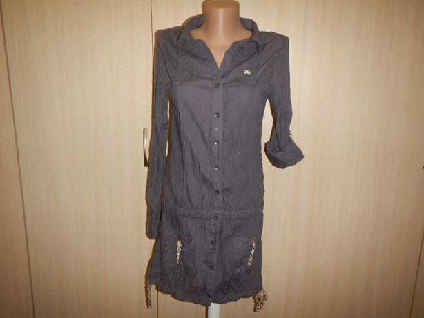 Блуза туника Burberry p.44(S\32-34) жатая 100% хлопок