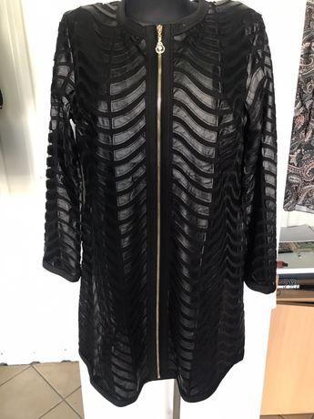 Płaszcz wiosenny elegancki czarny 52,54,56,58,60