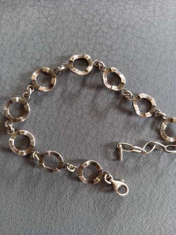 srebrna stara bransoletka