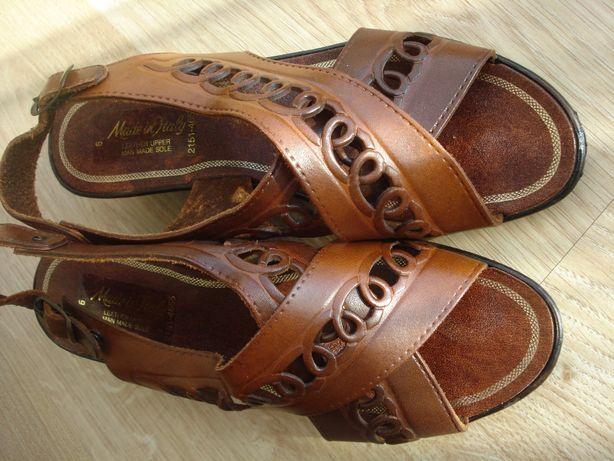 Buty pantofle sandały skóra naturalna. rozm. 40