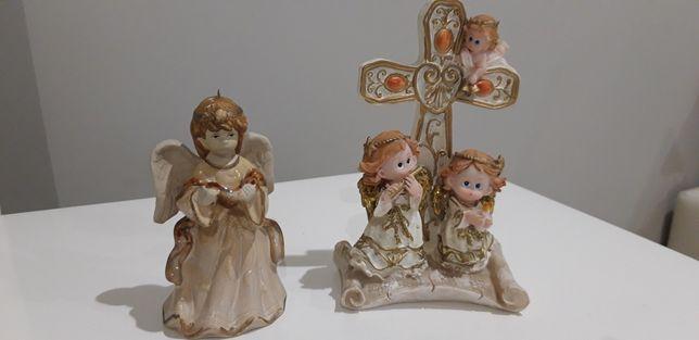 Krzyżyk z aniołami i aniołek
