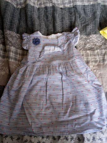 Sukienki letnie coccodrillo roz. 80 + nowy strój kąpielowy pepco 80