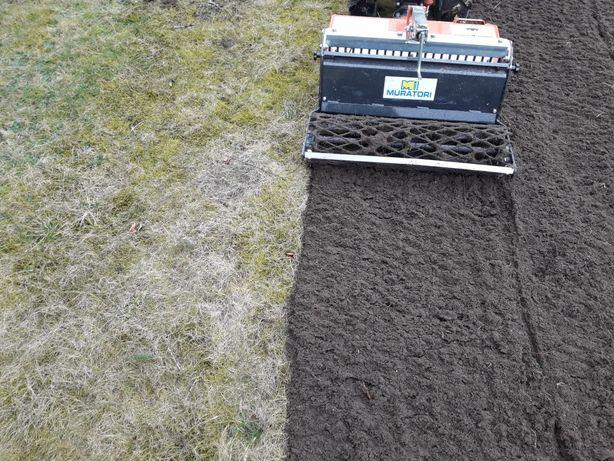 Glebogryzarka Separacyjna Trawa z rolki wysiew siew trawy koszenie