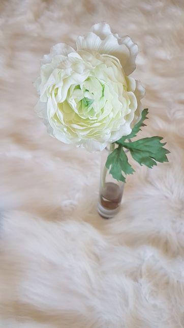Ranúnculo Branco Artificial/Jarra Decorativa