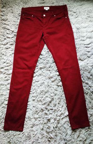Bordowe spodnie, rozmiar L