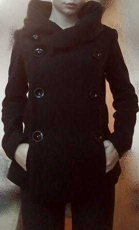 Czarny płaszczyk-Rozmiar 34