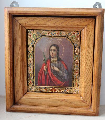Старинная Икона св. Лидия именник на подарок.