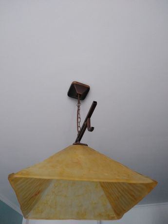 Lampa szklana wisząca 40cm