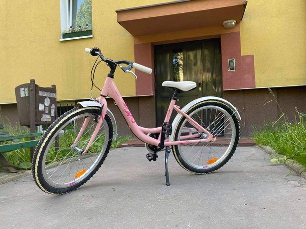 Rower różowy firmy Kross + Nowy dzwonek rowerowy GRATIS