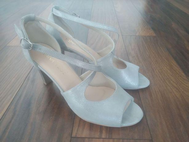Buty ślubne sandały skórzane,Nina West, NOWE, r. 38