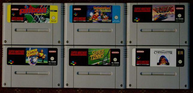 6 gier PAL na konsolę SUPER NINTENDO Made in Japan