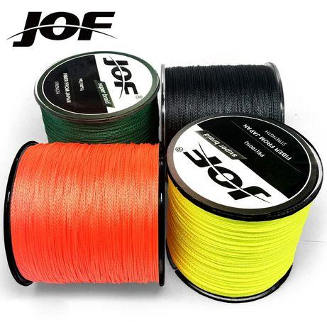 Plecionka JOF 4 braid, 0,128mm kolor Orange fluo, 300 m