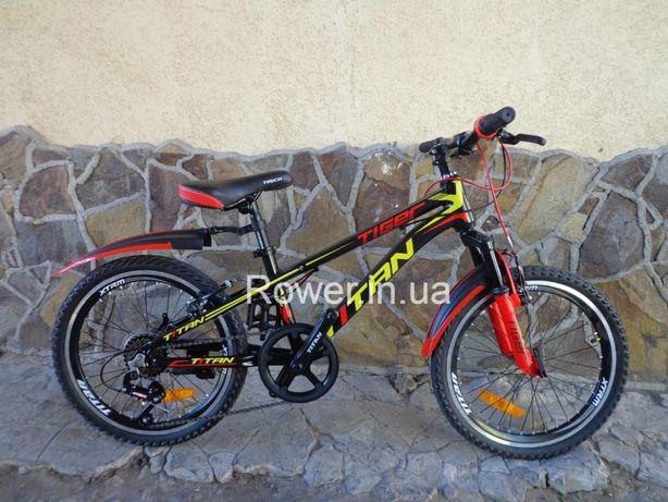 Новий алюмінієвий дитячий велосипед Titan Tiger 20 BOG дітям 5-8 років