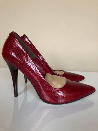 buty szpilki damskie 37 czerwone,