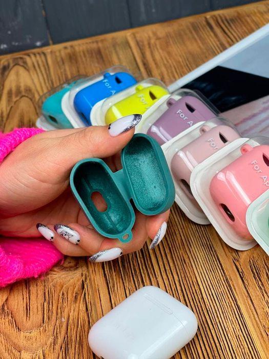 АКЦИЯ Чехол футляр с микрофиброй для наушников Apple airpods 1/2, pro Херсон - изображение 1