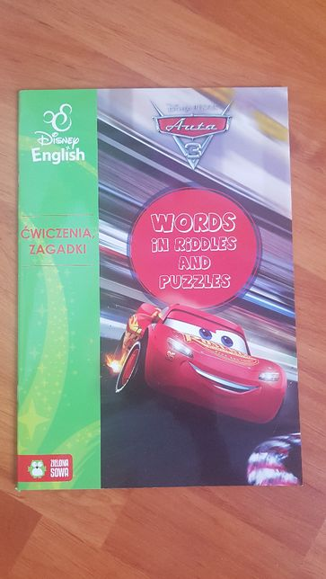 Disney English Auta 3 Words in riddles and puzzles bdb