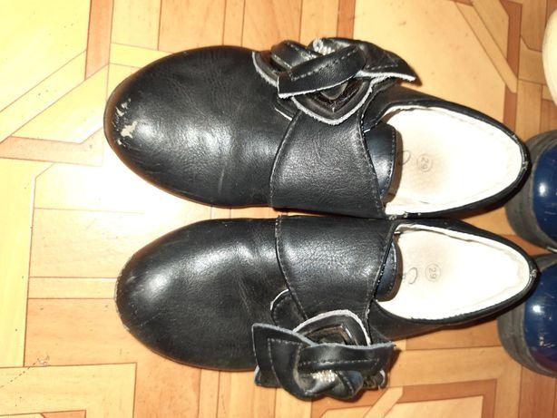 Шкіряні закриті туфлі для дівчинки