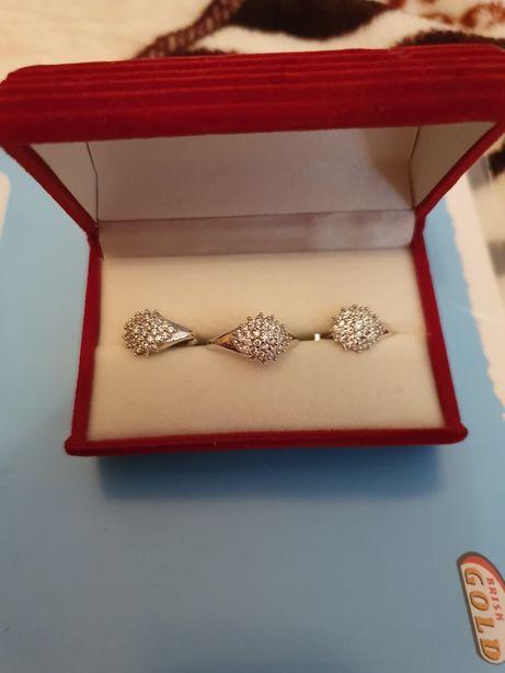 Серебрянный набор ёжики