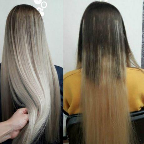 Исправить окрашивание волос, балаяж, аиртач, шатуш, мелирование