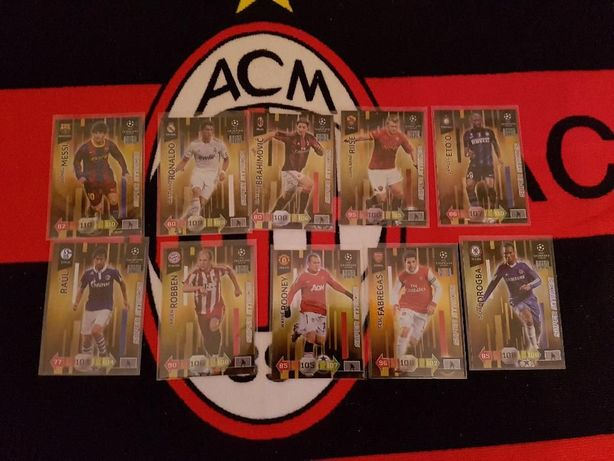 Panini Champions league 2010/11 update super strikes set 10 kart rare