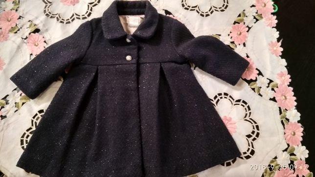 Пальто для дівчинки 9-12 міс