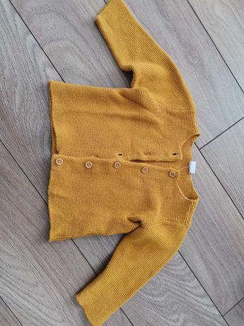 Musztardowy sweterek h&m r. 80