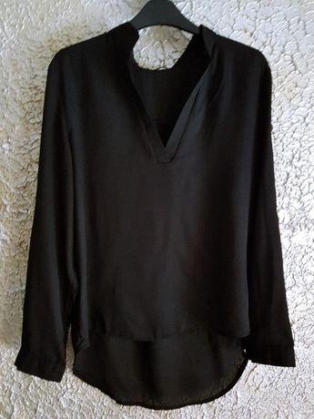 koszula elegancka Zaneza czarna podwijanie rękawy