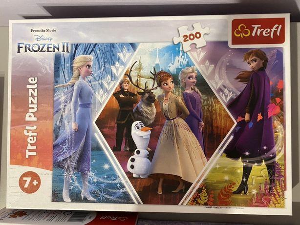 Puzzle  2 szt + clementoni quiz Frozen II