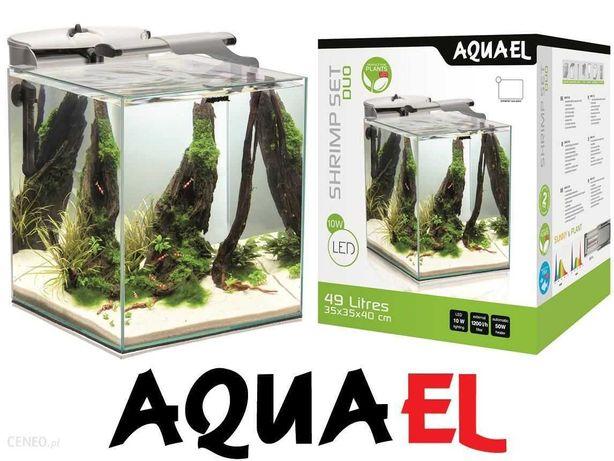 Akwarium Aquael z osprzętem - gotowy duży zestaw - dowóz do kupującego