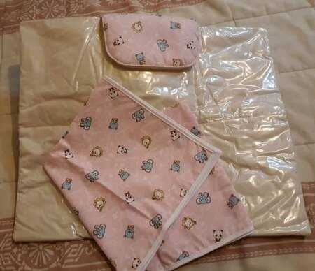 Conjunto de Muda Fralda + Fralda de Tecido para Menina